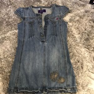 Mexx Girls Denim Dress with Flowers
